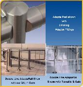 Steel Rails - AdaptaRail Stainless Steel Post and Rail